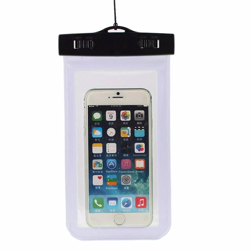 Waterbestendig hoesje voor telefoon Iphone – Samsung etc Transparant