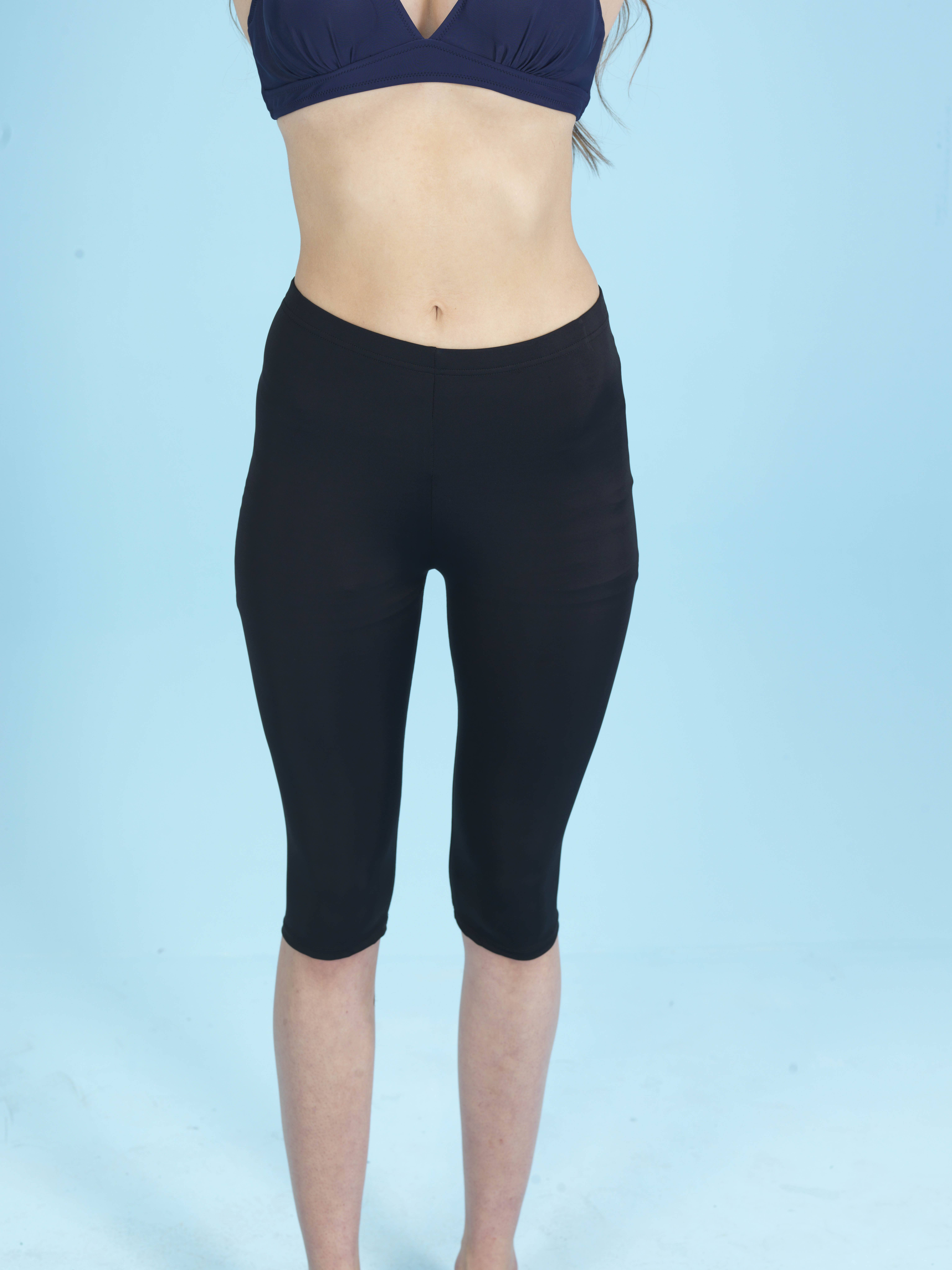 Capri Sportlegging.Capri Zwem En Sportlegging Zwart Elif Boutique
