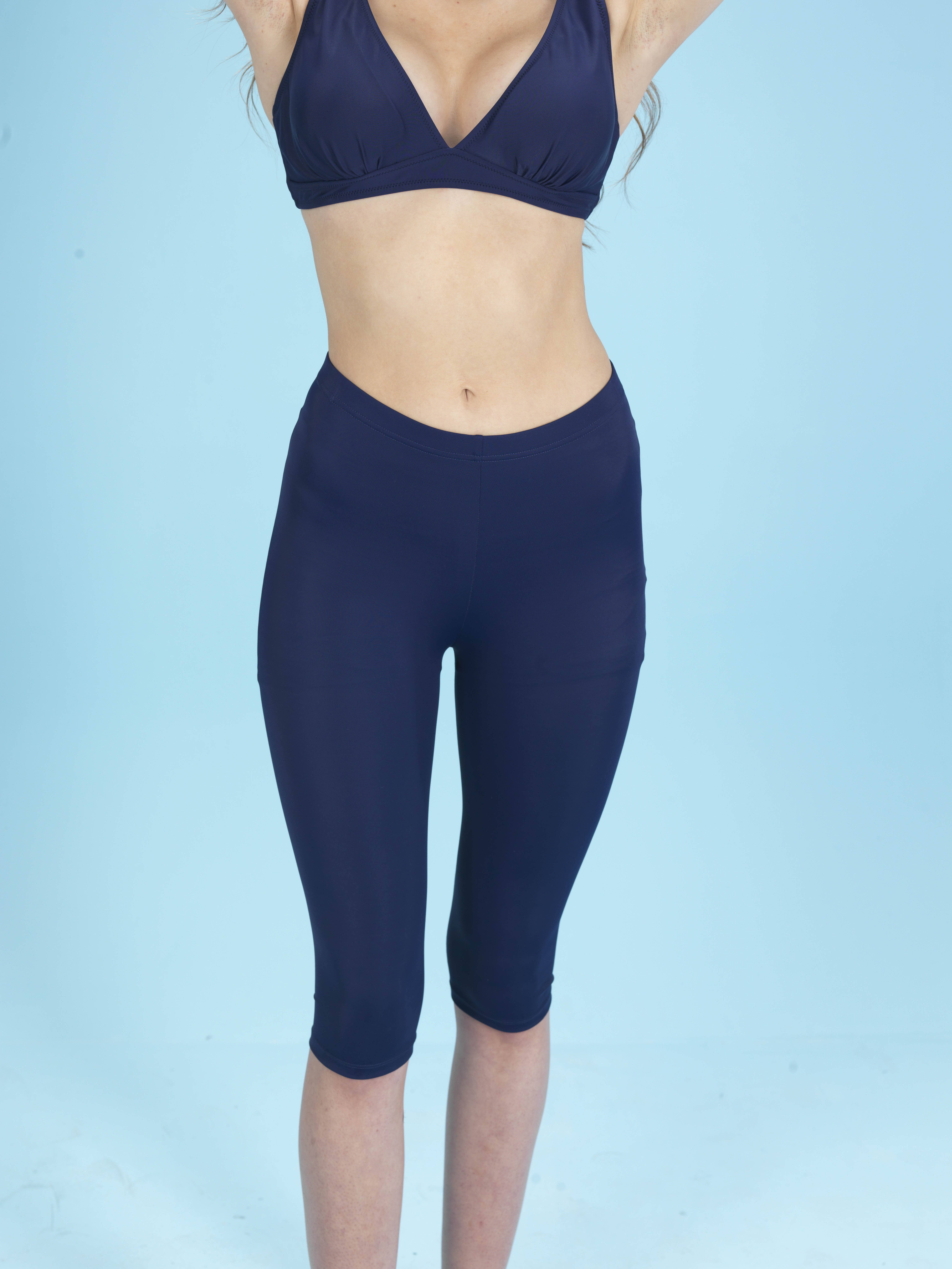 Capri Sportlegging.Capri Zwem En Sportlegging Blauw Elif Boutique
